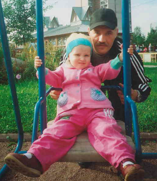 Mr Kocherov, the applicant in the case, with his daughter