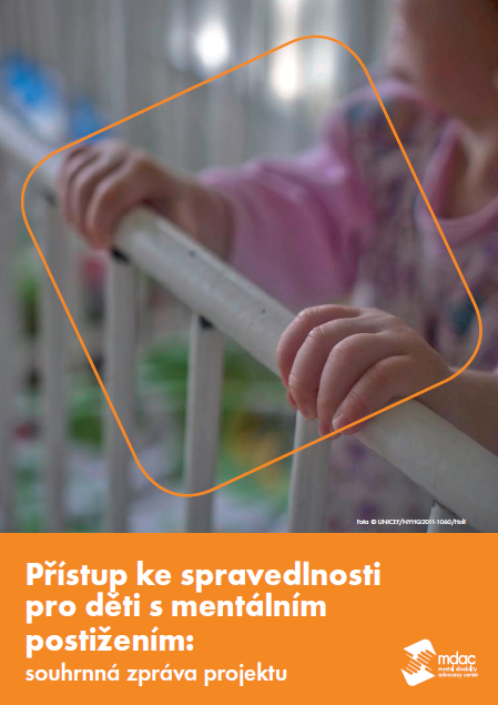 Front cover: Access to justice for children with mental disabilities - Report summary - Czech
