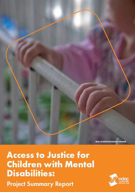 Front cover: Access to justice for children with mental disabilities - Report summary - English
