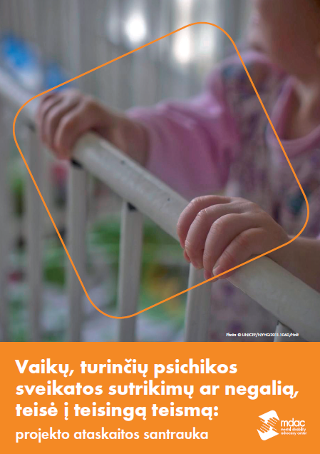 Front cover: Access to justice for children with mental disabilities - Report summary - Lithuanian