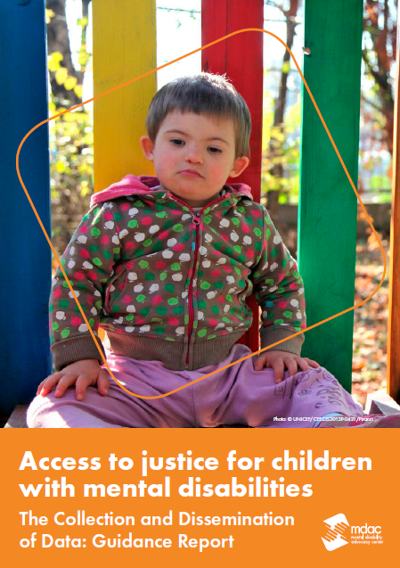 Front cover: Access to justice for children with mental disabilities - Data guidance report - English