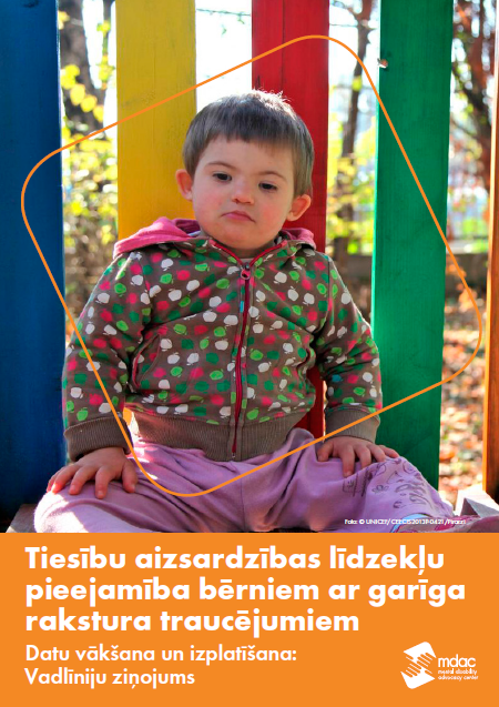 Front cover: Access to justice for children with mental disabilities - Data guidance report - Latvian