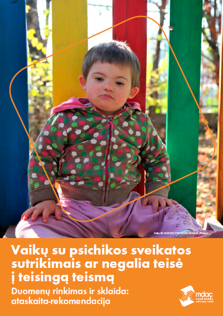 Front cover: Access to justice for children with mental disabilities - Data guidance report - Lithuanian