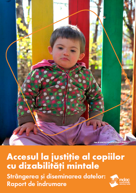 Front cover: Access to justice for children with mental disabilities - Data guidance report - Romanian