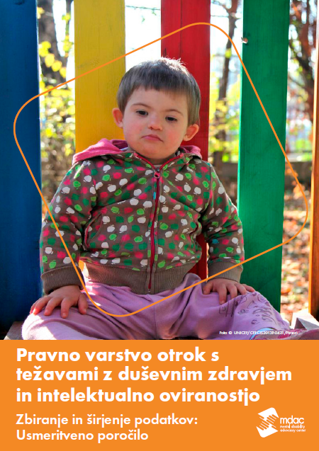 Front cover: Access to justice for children with mental disabilities - Data guidance report - Slovenian
