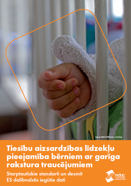 Front cover: Access to justice for children with mental disabilities - Standards and Findings - Latvian