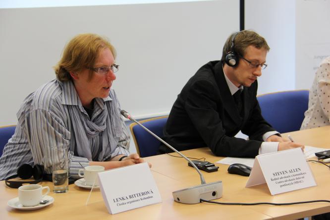 Ms. Lenka Ritterová, speaking about abuse in Czech psychiatry, 2014. (c) MDAC.